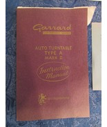 Vintage Garrad Auto Turntable Type A Mark II Instruction Manual Book Tem... - $19.92
