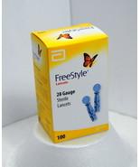 100 ct. FreeStyle Lancets 28 Gauge Sealed Box Expire 01/2024 #13001-70 - $29.95