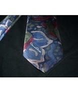 MEN'S OSCAR DE LA RENTA STUDIO BLUE GREEN RED ABSTRACT ARTISTIC MADE IN ... - $14.21