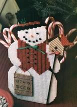 Z816 Plastic Canvas PATTERN ONLY Birdseed Sign Snowman Ornament Pattern - $7.50
