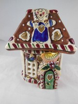 Blue Sky Clayworks Christmas Gingerbread House Tea Light Votive Candle H... - $22.76