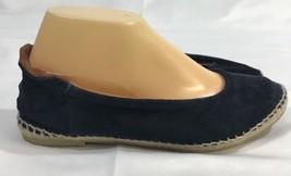 Maypol Suede Ballet Flats Espadrilles shoes womens 7.5 navy blue anthrop... - $55.17