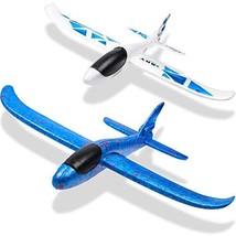 WATINC 2Pcs 17in Airplane, Manual Throwing, Fun, challenging, Outdoor Sports Toy