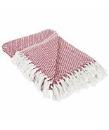 DII 100% Cotton Basket Weave Throw for Indoor/Outdoor Use Camping Bbq's ... - $19.28