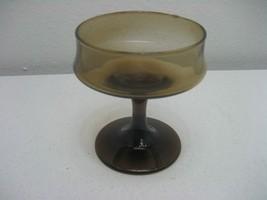 "Vintage Amber Footed 4"" Wine Water Desert Custard Stemmed Goblet - $3.95"