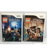 Nintendo Wii LEGO Game Lot - Harry Potter 1-4 & Pirates Of The Caribbean... - $16.10