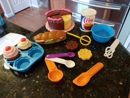 VTG FISHER PRICE Play Food Cupcake Cake Wisks Spoons Baking Fun 2151 215... - $132.72