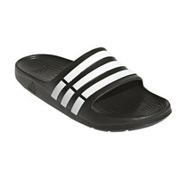 Adidas Duramo G15890 Black White Slides Sandals Flip Flops Shower Pool S... - $23.95