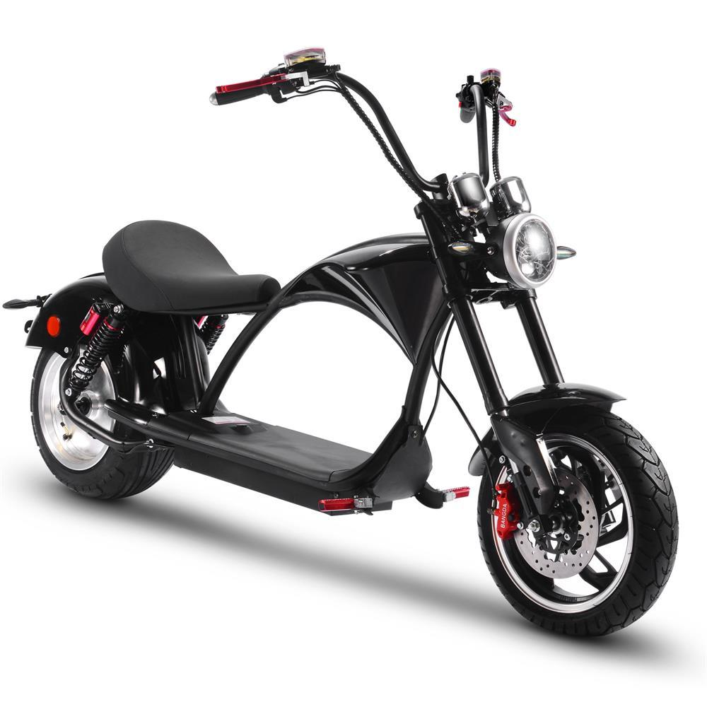MotoTec Lowboy 60v 20ah 2500w Lithium Electric Scooter 28 MPH up to 38 Miles