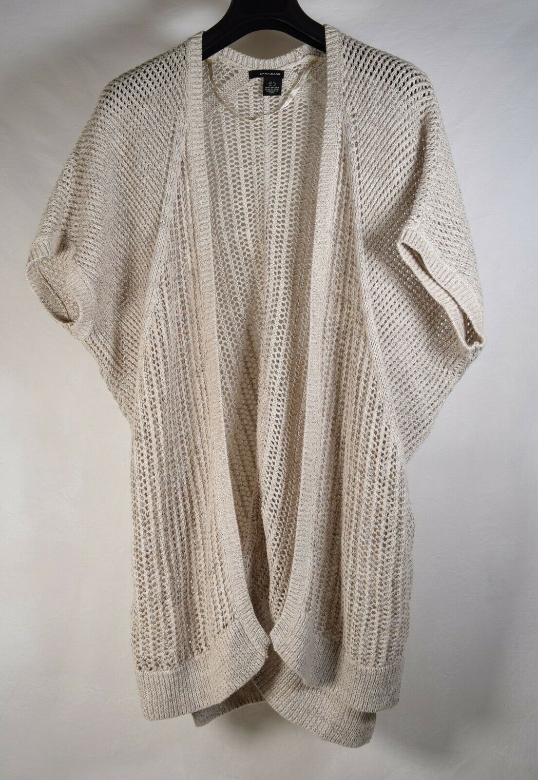 Primary image for DKNY Jeans Womens Knit SS Sweater Cardigan Beige XL