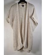 DKNY Jeans Womens Knit SS Sweater Cardigan Beige XL - $24.75