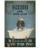 VibesPrints Vintage Bath Soap Dachshund Poster Art Print - Funny Gift Fo... - $25.59+