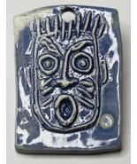 "2"" Original Luanne Tackett Simpson Punk Abstract Ceramic  Blue Face Broo... - $21.37"