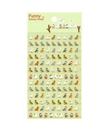 CUTE TINY BIRD STICKERS Sheet Animal Owl Parrot Vinyl Craft Scrapbook St... - $3.99