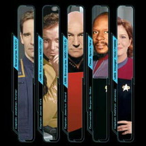 Star Trek All 5 TV Series Captains Images T-Shirt NEW UNWORN - $17.99