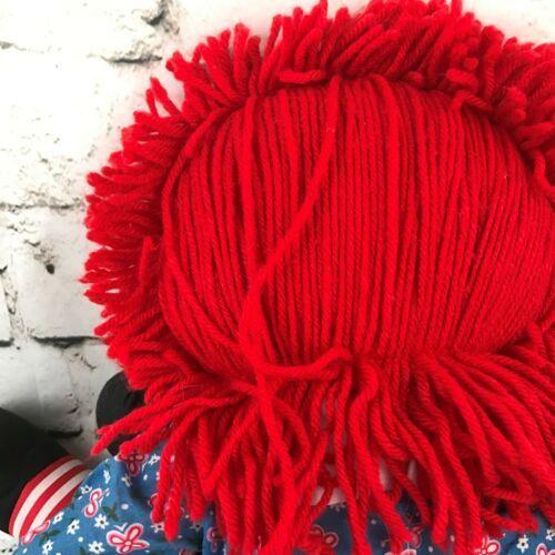 Applause Raggedy Anne Plush Classic Retro Rag Doll Red Yarn Hair Stuffed Toy image 6