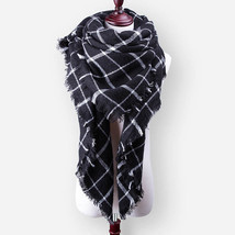 New Winter Scarf For Women Tartan Scarf Plaid Blanket Basic Shawls Autum... - £8.97 GBP+