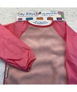 Silly Billyz Long Sleeved Bib Toddler Absorbent Stain Resistant Smock Pink - $11.38