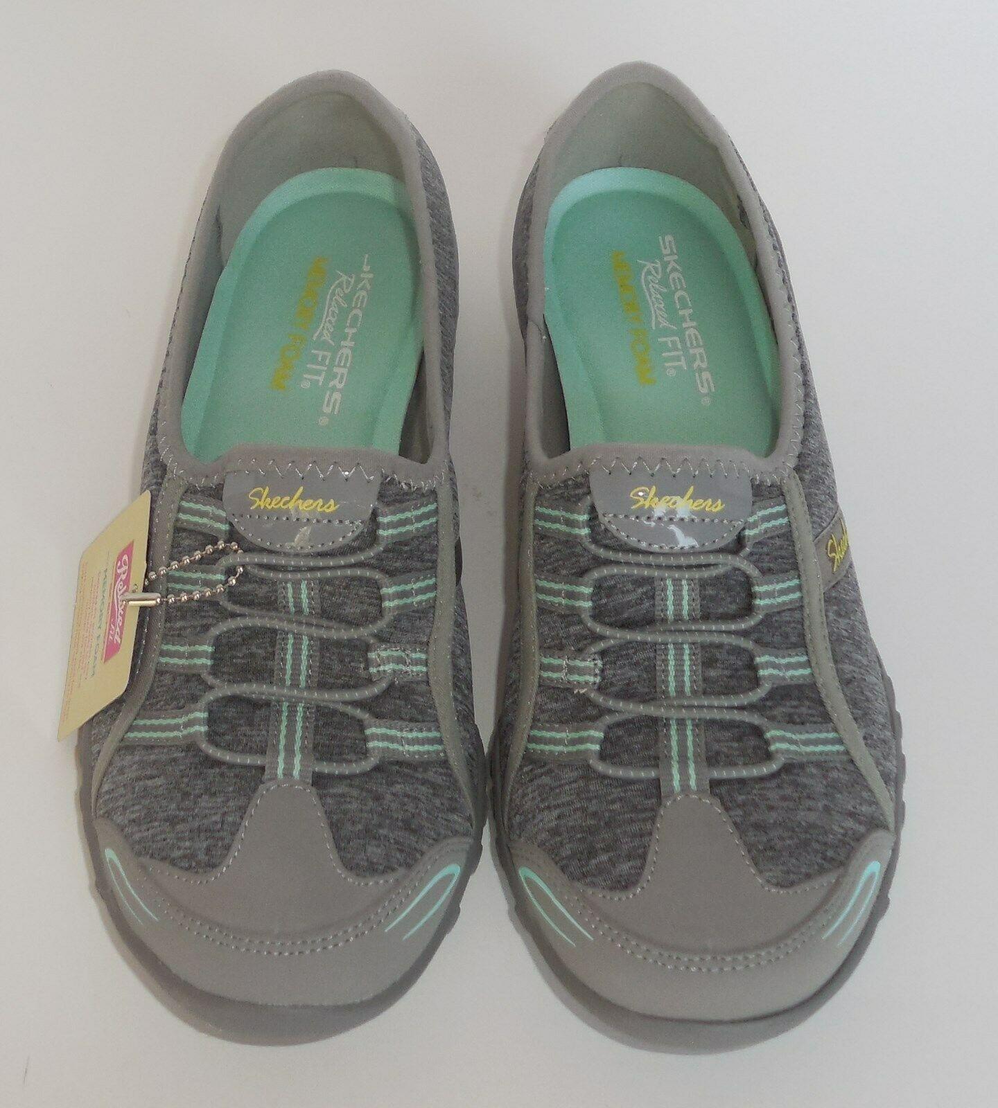 Skechers Good Life Womens 6.5 Gray Aqua Shoes Sneakers 22468 New Memory Foam
