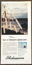 1967 Shakespeare Fiberglas Wonderrod Fishing Rod Print Ad Patented Power - $10.70