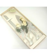 Jamie Lynn Wedding Cake Serving Set Porcelain Handle Stainless Knife Server - $12.22
