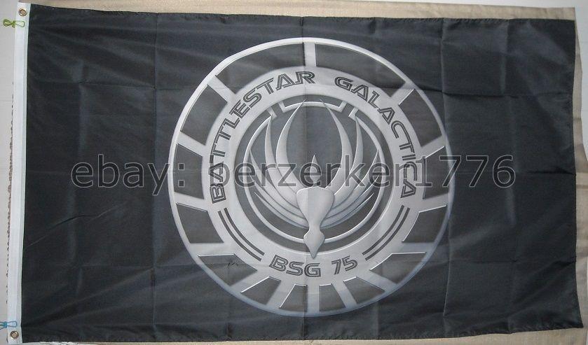 USA Seller Cylon Battlestar Galactica Pirate 3/' x 5/' Black Flag Banner Caprica