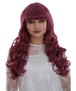 Gothic Diva | Women's Violet Color Curly Medium Length Trendy Gothic Div... - $20.85
