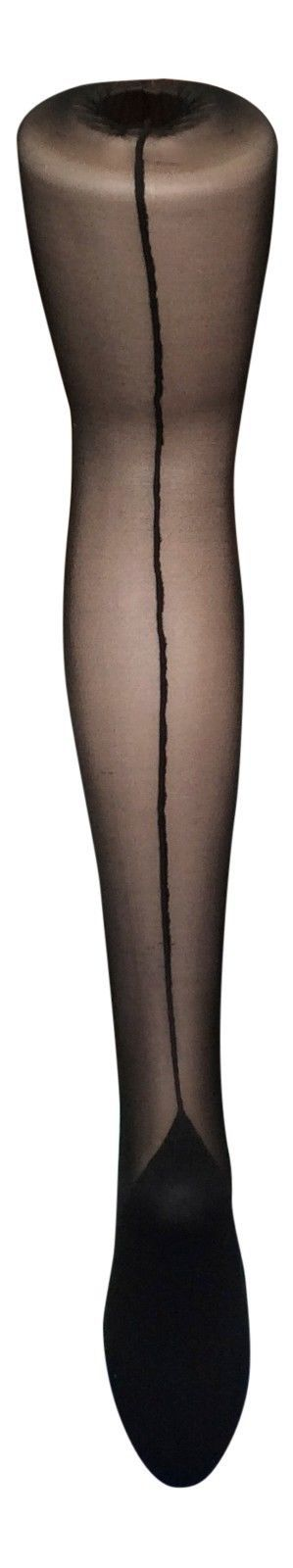 Sock Snob Retro Back Seam Designer Tights One size 18-24 uk, 46-52 eur Blacks XL