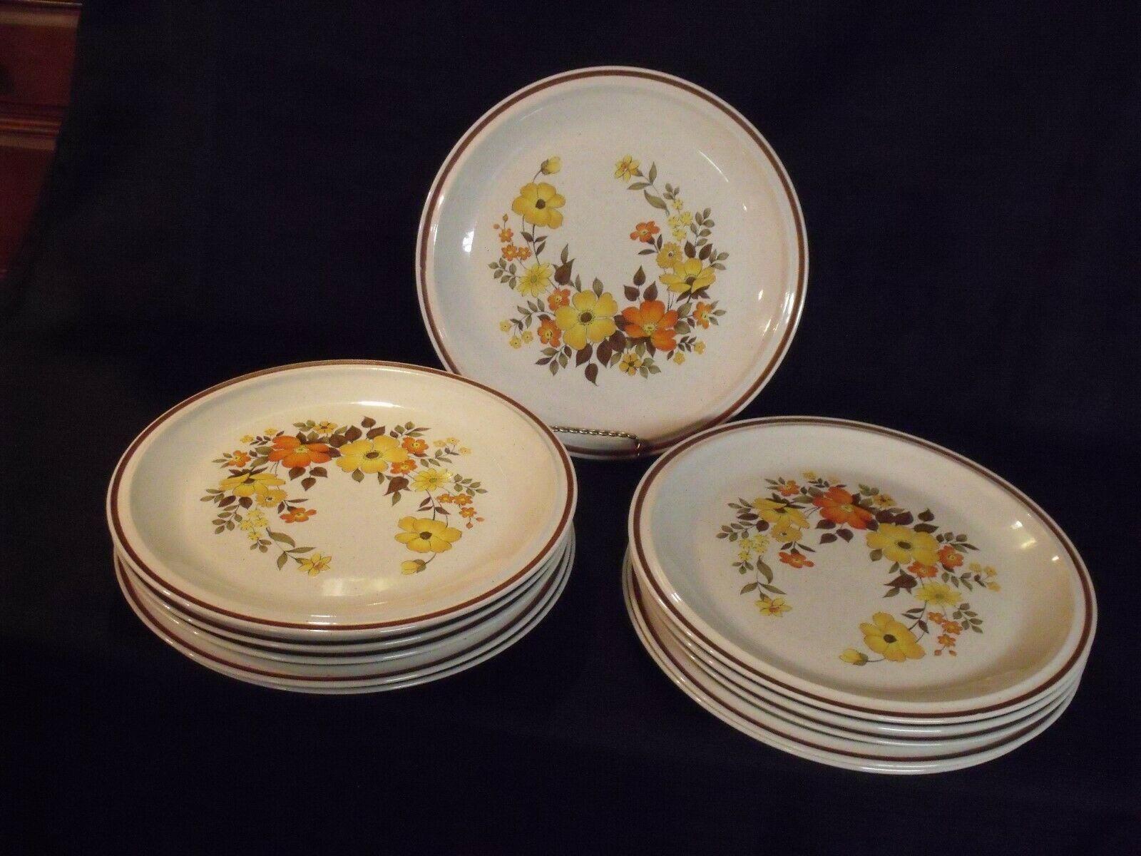 1970s Casual Elegance Hearthside Stoneware Chablis 572 Dinner Plates (11)  - $99.00