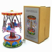 Reminiscence Metal Wind Up Toy Giddy-go-round Tin Toys Childhood Memorie... - $25.73