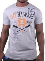 Hawke & Dumar 1968 Go Hawkes Heather Grey Rowing T-Shirt NWT