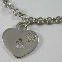925 SILVER, AQUAFORTE BRACELET, RHODIUM SILVER, HEART & BABY CHARM,ZIRCONIA. image 4