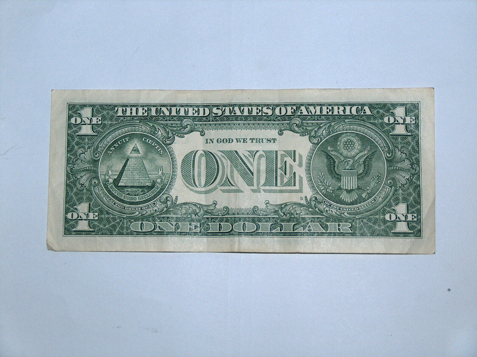 2017 $1 Bill US Bank Note Date Birthday Year Repeat 35 2001 3535 Fancy Serial # image 2