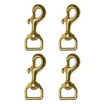 Set of 4 Hilason Swivel Eye Bolt Snap Clip Hooks Solid Brass U-TY04 - $29.65