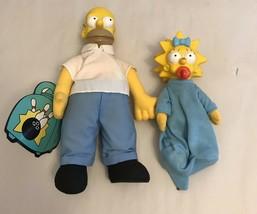 Homer Simpson Doll Burger King  And Lisa Promo 1990 - $9.50
