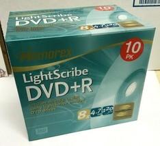 Memorex LightScribe DVD+R 10 Pack NEW SS w/ Standard Jewel Cases 8x 4.7G... - $19.99