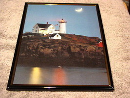 LIGHTHOUSE 8X10 FRAMED PICTURE PRINT - $13.26