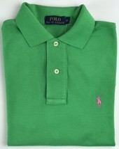 Ralph Lauren Mens Mid Green Polo Shirt Classic Fit XS - Extra Small - $67.52