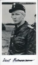 Karl Brommann signed photo. 103 SS Heavy Panzer Btl... - $46.00