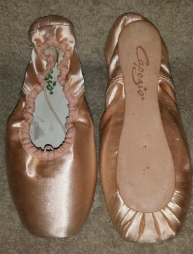 NIB Capezio Jete 316 European Pink Ballet Toe Pointe Shoes Size 6.5M 6.5 M