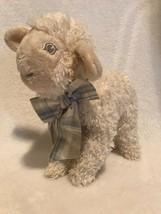 """Steiff Baby Linda Lamb Lamm Plush Bean Bag 8"""" 20cm Cream Sewn Eyes Ear B... - $19.99"""