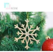 10Pcs Mini Colorful Hanging Glitter Snowflake Christmas Tree Baubles Bal... - $17.99