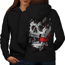 Blood Destroyed Red Skull Sweatshirt Hoody  Women Hoodie Back - $21.99+