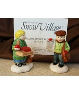 Dept 56 Snow Village Accessory 1988 APPLE GIRL NEWSPAPER BOY 2 Pc 51292 ... - $9.99