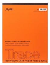 "U-Create Tracing Pad, 9"" x 12"", 25 lb Tracing Paper, 40 Sheets - $7.69"