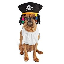 Bootique S/M Dog Halloween Costume Pirate Hat Dreadlocks Jabot Collar Sm... - $14.99