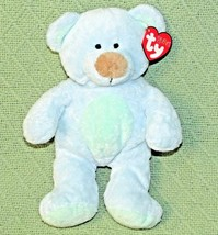 "9"" Ty BLUEBERRY Pluffies Teddy Bear HEART TAG Plush Stuffed Green Tummy ... - $14.03"