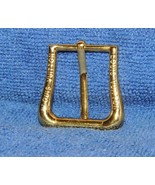 "USED Louis Vuitton logo Belt Buckle goldtone gold tone fit up to .9""+ inch - $26.99"