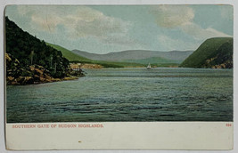 Old Undivided Postcard View of Hudson Highlands Mountains along Hudson R... - $12.69
