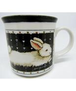Otagiri Japan Jan Jameson Cup Mug HeartPrint Vintage Rabbit - $14.50